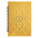 PAPETTE Carnet BIBLIO carte mangue 300g reliure intégrale, 100 pages 115g : 6x6 + page uni. 13,5x19,5mm