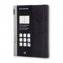 MOLESKINE Cahier professionnel multifonction 192 pages Très Grand Format 19x25.Couverture rigide noir