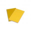 MOLESKINE Lot de 2 cahiers volants 96 pages ligné Grand Format.Couverture souple jaune tournesol+cuivré