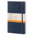 MOLESKINE Carnet 240 pages lignéformat Large 13x21.Couverture rigide bleu saphir
