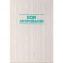 PAPETTE Carte de vœux SPARKLE2 Bon anniversaire, carte relief 430g deux faces + env kraft. 115 x 165mm