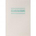 PAPETTE Carte de vœux SPARKLE2 Félicitations, carte relief 430g deux faces + env kraft. 115 x 165mm