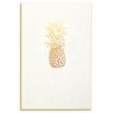 PAPETTE Carte de vœux GOLD Ananas, carte 800g deux faces tranche or + enveloppe kraft. 115 x 165mm