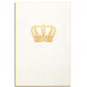PAPETTE Carte de vœux GOLD Couronne, carte 800g deux faces tranche or + enveloppe kraft. 115 x 165mm