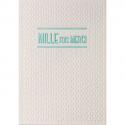 PAPETTE Carte de vœux SPARKLE2 Mille fois merci, carte relief 430g deux faces + env kraft. 115 x 165mm
