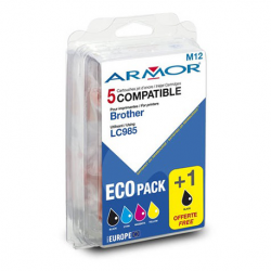 ARMOR Pack couleur 5 cartouches comp je LC985 B10173R1