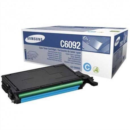 SAMSUNG CLP-C6092S (C6092S) Cartouche toner cyan de marque Samsung CLT-C6092S