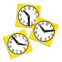 OZ INTERNATIONAL Lot de 10 horloges en plastique résistant lavable 11 cm, aiguilles mobiles