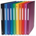 NEUTRE Classeur 26x32cm polypropylène opaque 5/100°. Dos 2cm. 10 coloris