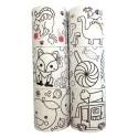 GRAINECREATIVE Lot de 6 rouleaux papier adhésifs, 46mmx5m, motifs assortis à colorier