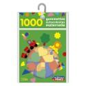 LITO DIFFUSION Sachet de 1000 gommettes autocollantes formes et couleurs assorties