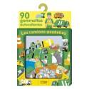 LITO DIFFUSION Boîte de 90 gommettes thème les camions poubelles