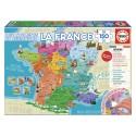 EDUCA Puzzle 150 départements et régions de France, 150 pièces, format 40 x 28 cm