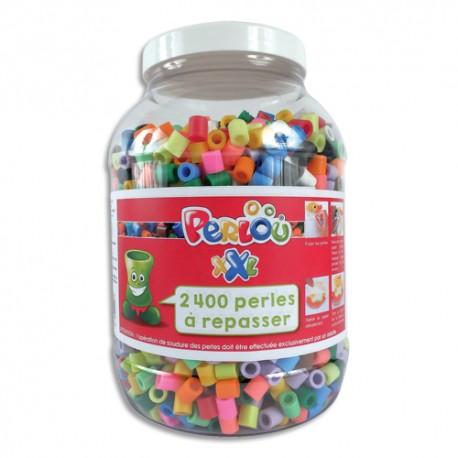 DTM Bocal de 2400 perles à repasser XXL assorties Perlou