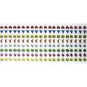 PW INTERNATIONAL Pierres autocollantes / sachet de 320 strass autocollantes