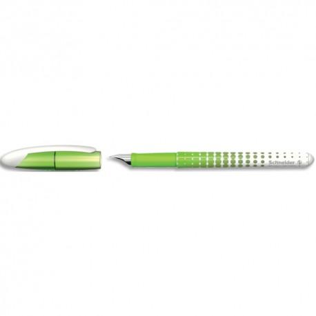 SCHNEIDER Stylo plume moyenne VOYAGE corps vert et blanc