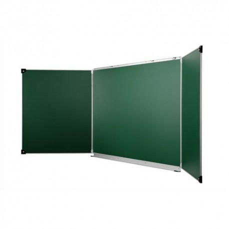 ULMANN Tableau tryptique émaillé Vert - Format : L400 x H120 cm ouvert, fermé 200 x 120 cm