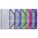 NEUTRE Trieur 12 compartiments 26x32cm en polyproplène opaque 5/100°. Avec index. 5 coloris