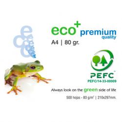 Ramette papier blanc A4 IBERPAPEL Eco+ 80 Grs 500 feuilles Cie 165 Premium Copieur, Jet d'encre, Laser. PEFC