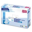 GPV Paquet de 70 enveloppes blanches auto-adhésives, format C5 162x229mm fenêtre 45x100mm 80g NF PEFC