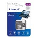 INTEGRAL Carte SDHC 32Go Class 10 INSDH32G-100V10