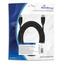 MEDIARANGE Cable HDMI textile rapide+Ethernet,male/male,plaqués,10.2Gbit/ taux tansfert, 5m,noir MRCS211