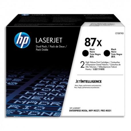HP Pack de 2 cartouches laser noir haute capacité 87X CF287XD