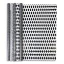 CLAIREFONTAINE Rouleau papier cadeau Design Alliance 60g. Dimensions 2x0,70m. Coloris noir&blanc 5 motifs