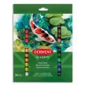 Derwent Academy Set de 24 tubes 12ml de peinture acrylique assortie
