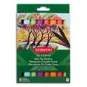 Derwent Academy Boîte de 8 marqueurs de coloriage double pointe fine et bizeautée, couleurs assorties