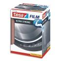 TESA Tour de 10 Adhésifs tesafilm Ultra Strong 15mm x 60m, transparent et résistant