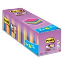 POST-IT Pack de 24 blocs Super Sticky dont 3 offerts 76 x 76 mm. Couleurs assorties.