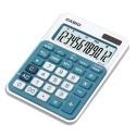 CASIO Calculatrice de bureau bleue 12 chiffres MS-20NC