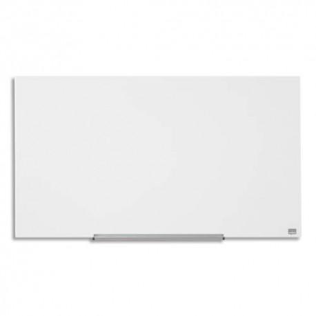 NOBO Tableau blanc émaillé magnétique avec porte-marqueur. Format Widescreen 85/188 x 106 cm