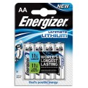 ENERGIZER Blister de 4 piles Lithium AA L91 Utimate Lithium