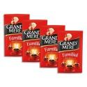 GRAND MERE Lot de 4 Paquets de 250g de Café moulu Familial, Robusta