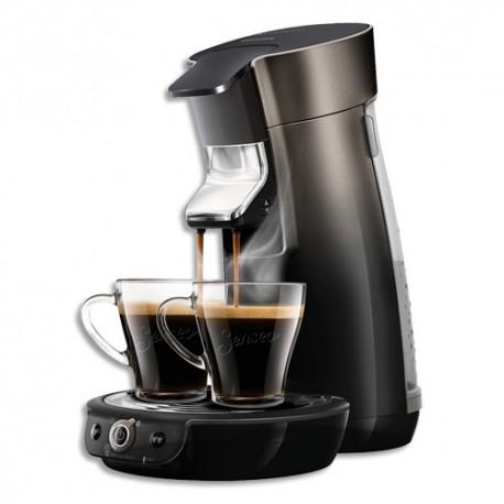 SENSEO Cafetière Viva café Anthracite 1450W, capacité 0,9L soit 8 tasses - Dim. L19 x H34 x P31 cm