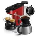 SENSEO Machine à café Switch Rouge + verseuse isotherme, 1450W, capacité 1L, 7 tasses, L15 x H27 x P40 cm