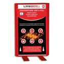 LIFEBOX Couverture anti feu Grise, étouffe le départ de flammes - Dimensions : L1,2 x H1,2 mètres
