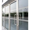 TAKE CARE Bande de signalisation pour vitrage en vinyle Polymère translucide givré L500 x H0,01 x P5 cm