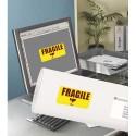Etiquette AVERY L7263Y - Boite de 350 Etiquettes laser rectangulaire enlevables 99.1x38.1mm coloris jaune fluo L7263Y-25