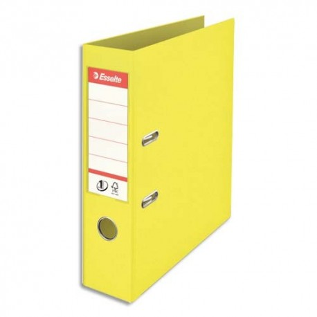 ESSELTE Classeur à levier Colour ice N1 Power en polypropylène, dos de 7,5 cm. Coloris jaune