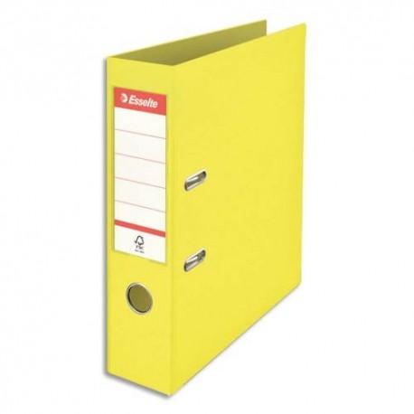 ESSELTE Classeur à levier Colour ice Standard en polypropylène, dos de 7,5 cm. Coloris jaune