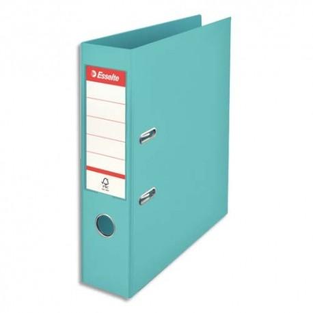 ESSELTE Classeur à levier Colour ice Standard en polypropylène, dos de 7,5 cm. Coloris bleu