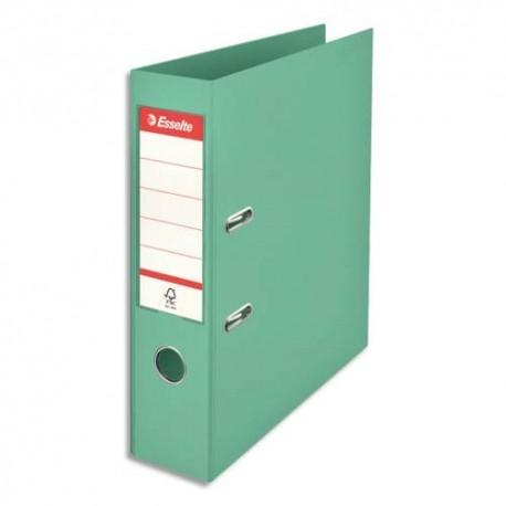 ESSELTE Classeur à levier Colour ice Standard en polypropylène, dos de 7,5 cm. Coloris vert
