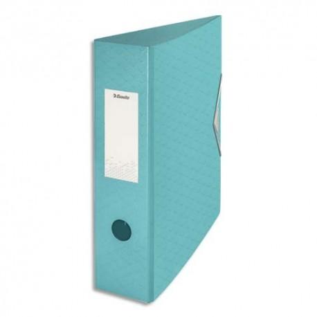 ESSELTE Classeur à levier Colour ice Polyfoam, dos de 7,5 cm. Coloris bleu
