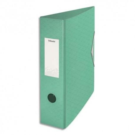 ESSELTE Classeur à levier Colour ice Polyfoam, dos de 7,5 cm. Coloris vert