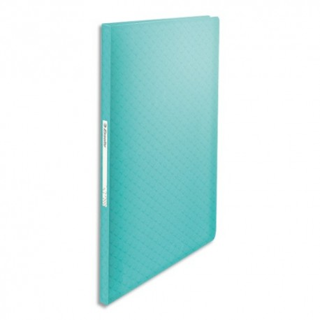 ESSELTE Protège-documents Colour ice 40 pochettes, 80 vues, en polypropylène 5/10ème. Coloris bleu