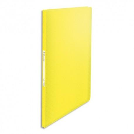 ESSELTE Protège-documents Colour ice 60 pochettes, 120 vues, en polypropylène 5/10ème. Coloris jaune