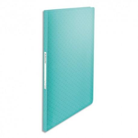 ESSELTE Protège-documents Colour ice 60 pochettes, 120 vues, en polypropylène 5/10ème. Coloris bleu